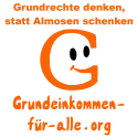 Square Button (orange auf weiß)