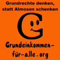 Square Button (schwarz auf orange)